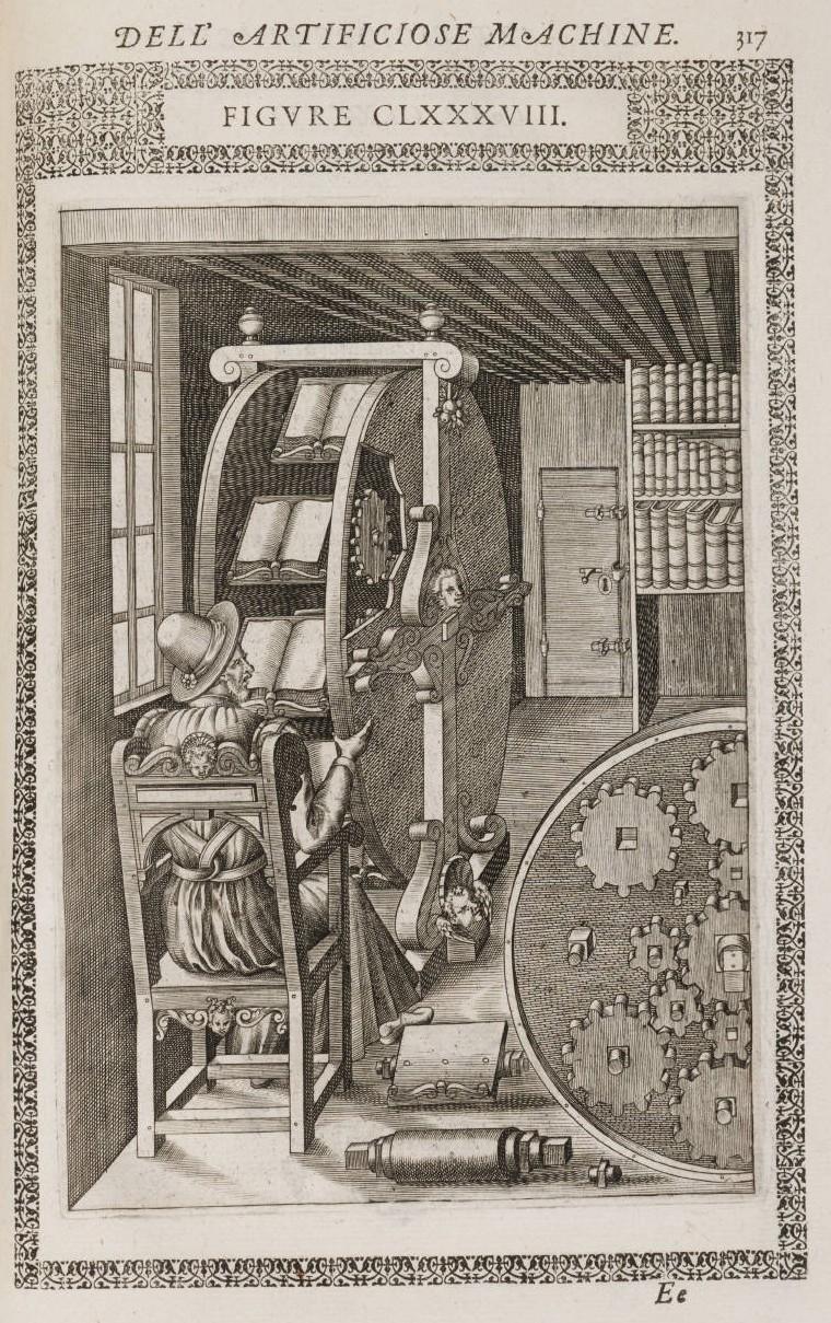 Ramelli, Agostino, 1531-ca. 1600. Le diverse et artificiose machine del capitano Agostino Ramelli