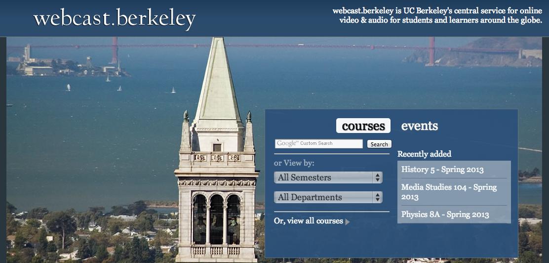 Portal de MOOCs, Berkeley http://webcast.berkeley.edu/